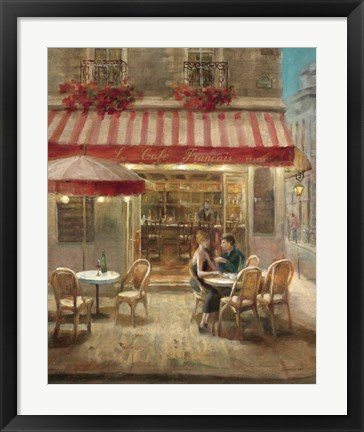 Framed Paris Cafe II Print