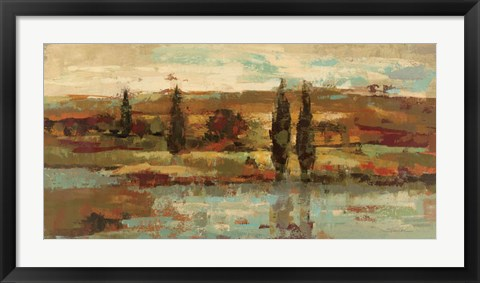 Framed Hot Day by the River Print