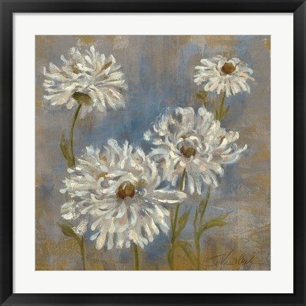 Framed Flowers in Morning Dew II Print