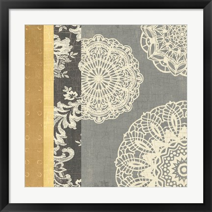 Framed Contemporary Lace I Print