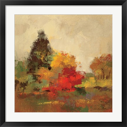 Framed Fall Forest I Print