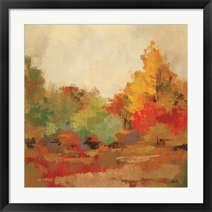 Framed Fall Forest II Print