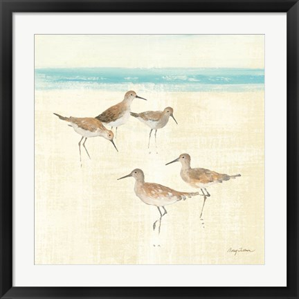 Framed Sand Pipers Square I Print