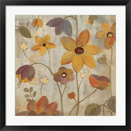 Framed Floral Song III Print