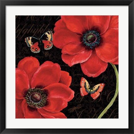 Framed Petals and Wings III Print