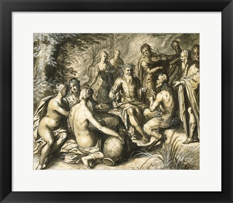 Framed Judgment of Midas Print