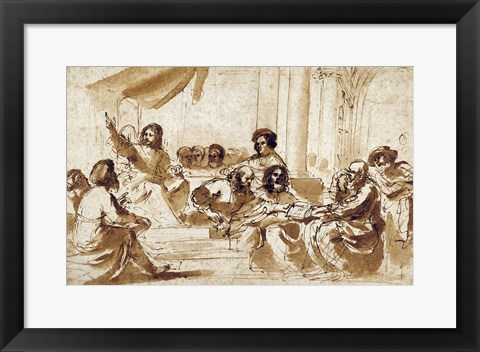Framed Christ Preaching in the Temple Print