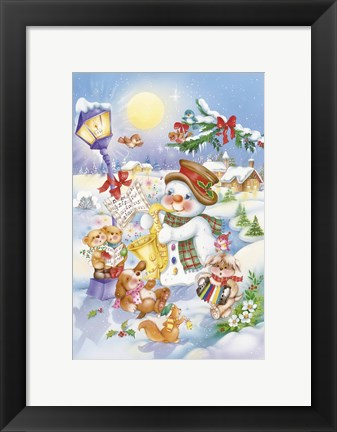 Framed Holiday Songs Print