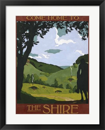 Framed Come Home To The Shire Print