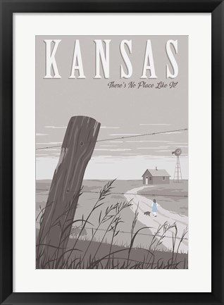 Framed Wizard Oz Kansas Duo Print