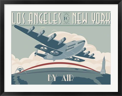 Framed La To Ny Zazzle2 Print