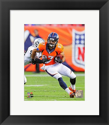Framed Eric Decker 2013 with the ball Print