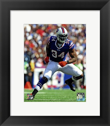 Framed Mario Williams 2013 in action Print