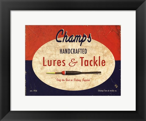 Framed Champs Print