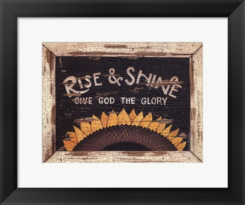 Framed Rise and Shine Print