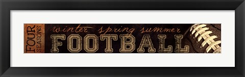 Framed Four Seasons Football I Print