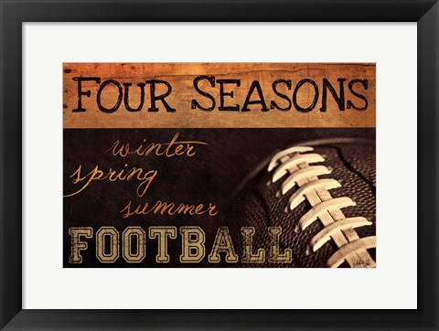 Framed Four Seasons Football II Print