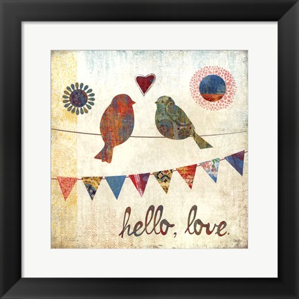 Framed Hello, Love Print