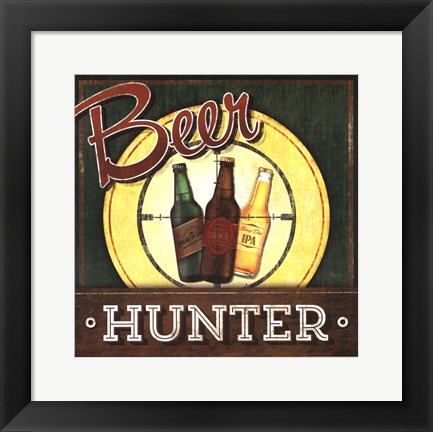 Framed Beer Hunter Print