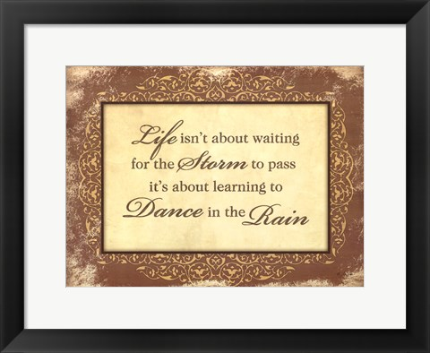 Framed Dance in the Rain Print