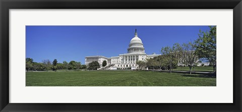 Framed USA, Washington DC, Low angle view of the Capitol Building Print