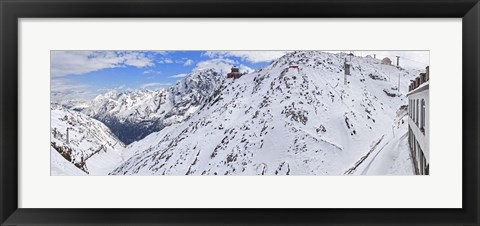 Framed Snow covered mountain range, Stelvio Pass, Italy Print
