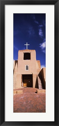 Framed Facade of a church, San Miguel Mission, Santa Fe, New Mexico, USA Print