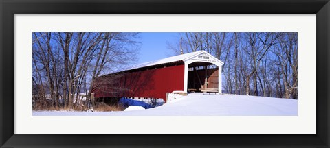 Framed Neet Covered Bridge Parke Co IN USA Print