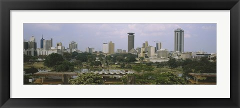 Framed Skyline View of Nairobi, Kenya Print