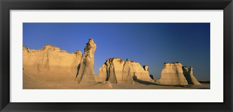 Framed Monument Rocks in Kansas Print