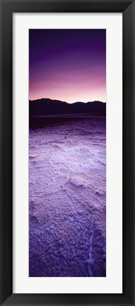 Framed Salt Flat at Sunset, Death Valley, California Print