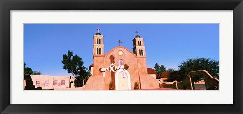 Framed Church in a city, San Miguel Mission, Socorro, New Mexico, USA Print