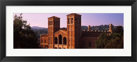 Framed Royce Hall at the campus of University of California, Los Angeles, California, USA Print