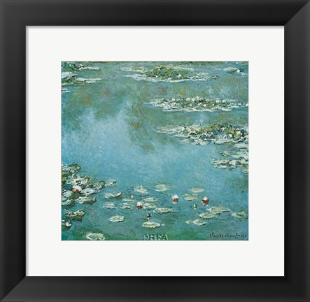 Framed Waterlilies Print