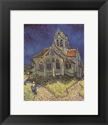 Framed Church at Auvers Print