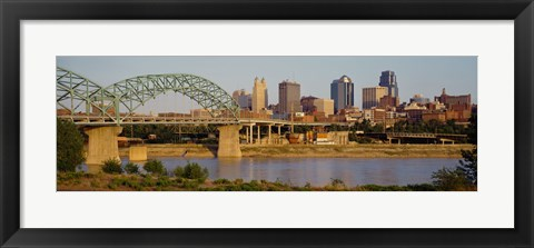 Framed Bridge over a river, Kansas city, Missouri, USA Print