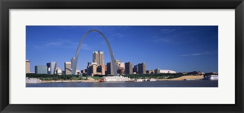 Framed Skyline Gateway Arch St Louis MO USA Print