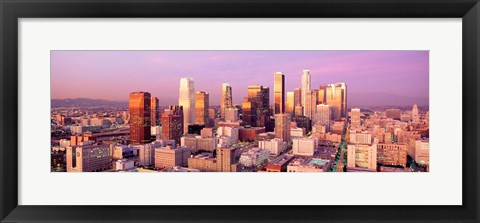 Framed Sunset Skyline Los Angeles CA USA Print