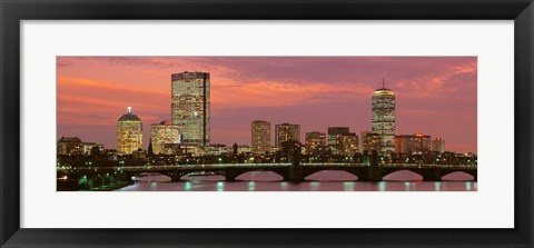 Framed Back Bay, Boston, Massachusetts, USA Print