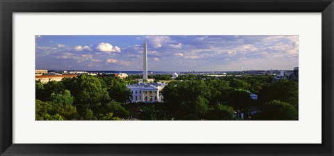 Framed Aerial, White House, Washington DC, District Of Columbia, USA Print