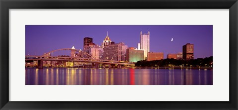 Framed Allegheny River, Pittsburgh, Pennsylvania, USA Print