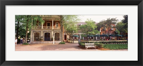 Framed Tourist In Town Square, Williamsburg, Virginia, USA Print