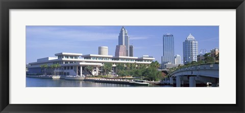 Framed Tampa Convention Center, Skyline, Tampa, Florida, USA Print