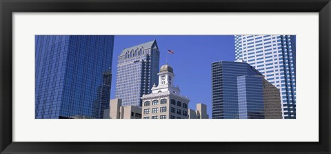 Framed Old City Hall Cityscape Tampa FL Print