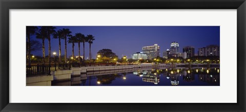 Framed Orlando waterfront, Florida Print