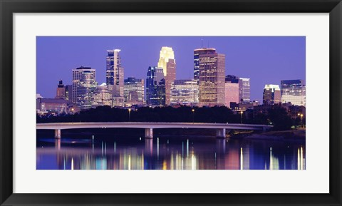 Framed Minneapolis at Night Print