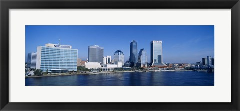 Framed Buildings at the waterfront, St. John's River, Jacksonville, Florida, USA Print
