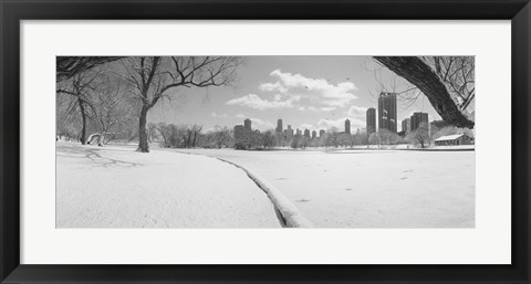 Framed Buildings in a city, Lincoln Park, Chicago, Illinois, USA Print