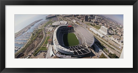Framed Soldier Field, Chicago, Illinois Print