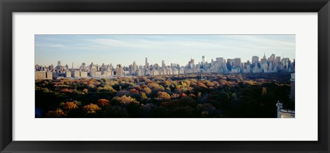 Framed View Over Central Park, Manhattan, NYC, New York City, New York State, USA Print
